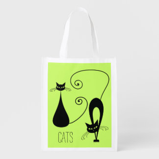 Whimsical Cats Reusable Grocery Bag