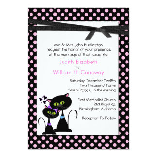 Whimsical Cats Wedding Invitation