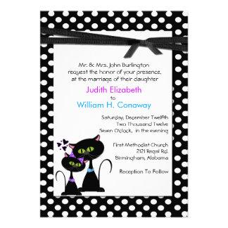 Whimsical Cats Wedding Invitation