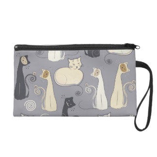Whimsical Cats Wristlet
