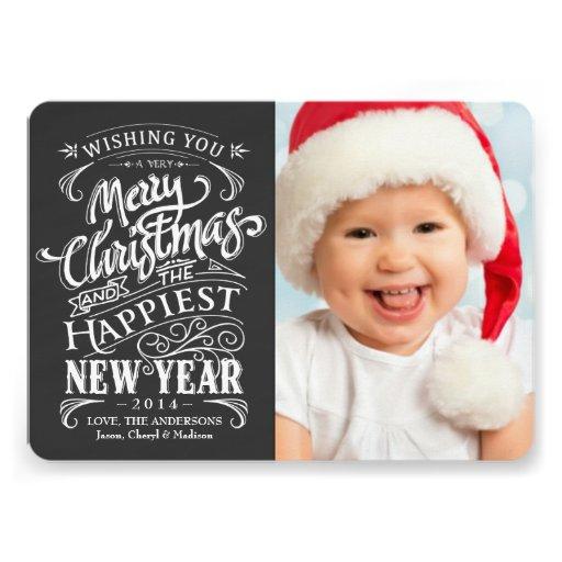"... Merry Christmas Photo Cards 5"" X 7"" Invitation Card | Zazzle: www.zazzle.com/whimsical_chalkboard_merry_christmas_photo_cards..."