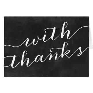 Whimsical Chalkboard Thank You Card