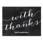 Whimsical Chalkboard Thank You Postcard