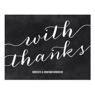 Whimsical Chalkboard Thank You Postcards