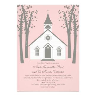 Whimsical Chapel Wedding Invitation Custom Invitation