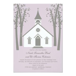 Whimsical Chapel Wedding Invitation
