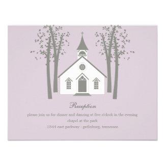 Whimsical Chapel Wedding Reception Enclosure Card Custom Announcements