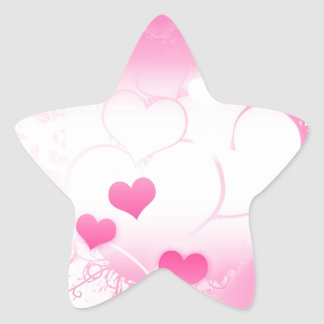 Whimsical Charming Pink Hearts Custom Stickers