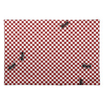 Whimsical Checkerboard & Ants Place Mat
