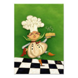 Whimsical Chef 3.5x5 Paper Invitation Card