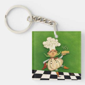 Whimsical Chef Keychain