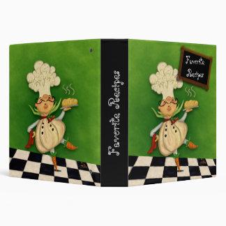Whimsical Chef Recipe Binder