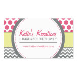 Whimsical Chevron and Dots Business Card Templates