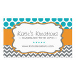Whimsical Chevron and Dots - Custom Design Business Cards