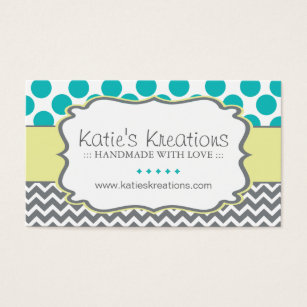 Whimsical business cards templates zazzle whimsical chevron and dots custom design business card colourmoves