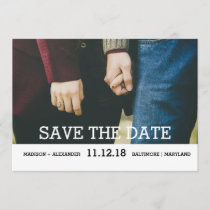 Whimsical Chic Save The Date Photo