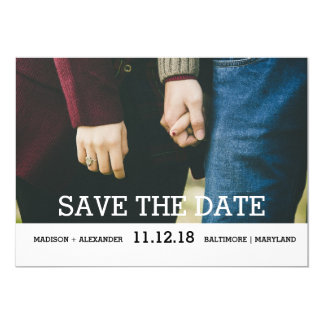 Whimsical Chic Save The Date Photo Card