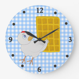 Whimsical Chicken and Waffle Kitchen Wall Clock