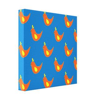 Whimsical Chicks Canvas Print