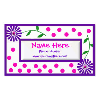 Whimsical Children s and Mommy Cal Business Card Templates