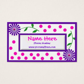 Whimsical Children's and Mommy Cal... Business Card