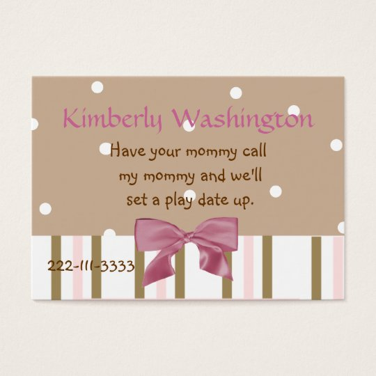 Whimsical Childrens Calling Card