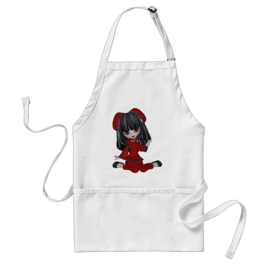 whimsical CHINA DOLL Adult Apron