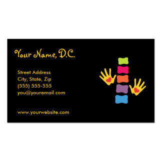 Whimsical Chiropractic Appointment Cards Business Card