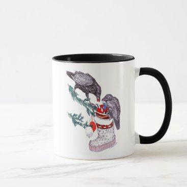 Coffee Themed Whimsical Christmas Alaska Wildlife Coffee Mug