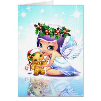 Whimsical Christmas Angel Card