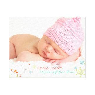 Whimsical Christmas Baby Girl Photo Canvas Print