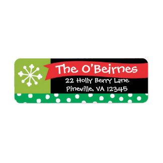 Whimsical Christmas Banner Return Address Label