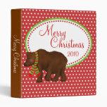 Whimsical Christmas Bear Photo Binder
