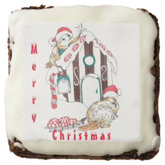 Whimsical Christmas Beaver Chalet Decorating Brownie
