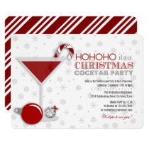 Whimsical Christmas Cocktail Party Invitation