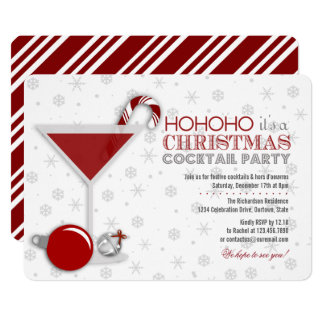 whimsical christmas cocktail party invitation - Christmas Cocktail Party Invitations