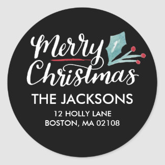 Whimsical Christmas Collection Classic Round Sticker
