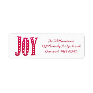 Whimsical Christmas Doodled Joy Custom Label