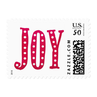 Whimsical Christmas Doodled Joy Custom Postage