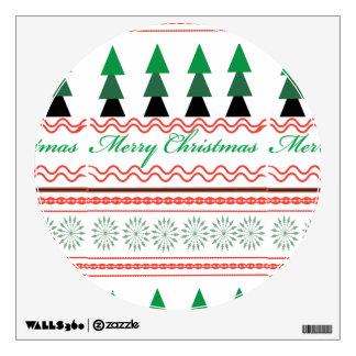 Whimsical Christmas Geometric patterns Wall Sticker