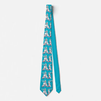 Whimsical Christmas Holiday Singing Caribou Tie
