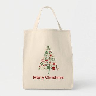Whimsical Christmas Holiday Tree Tote Bag