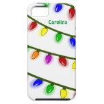 Whimsical Christmas Lights Custom Name iphone 5 iPhone 5 Covers