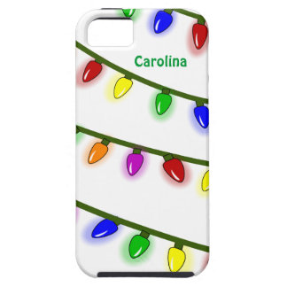 Whimsical Christmas Lights Custom Name iphone 5 iPhone SE/5/5s Case