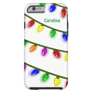Whimsical Christmas Lights Custom Name iPhone 6 ca