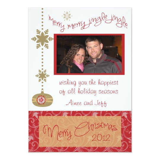 Whimsical Christmas Personalized Photo Card