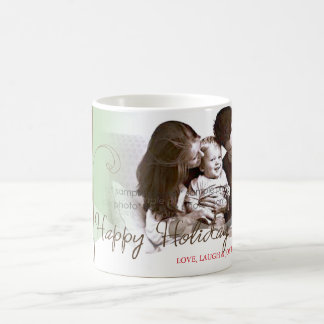 Whimsical Christmas Snow Trees Holiday Photo Mug