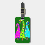 Whimsical Christmas Travel Bag Tags