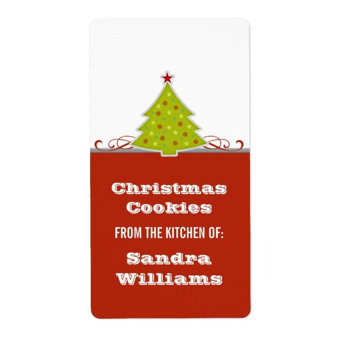 Holiday Address Label Whimsical Tree