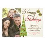 Whimsical Christmas Tree Holiday Photo Card Invitations